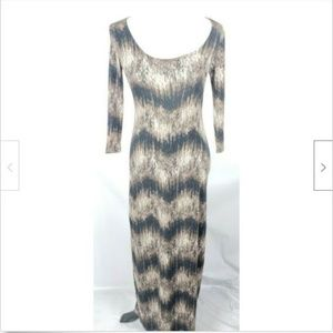 Cynthia Rowley Maxi Dress XS Brown Cream Long